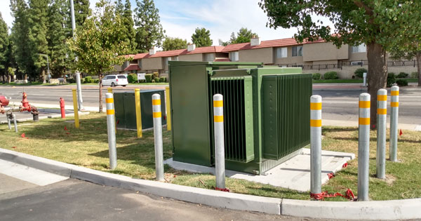 EA's transformer finally installed by PG&E at Panera Bread in Bakersfield, CA.