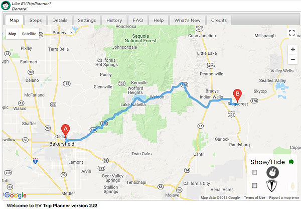 Ev Trip Planner >> Wind Works Bakersfield To Ridgecrest Revisited In A Chevy Bolt