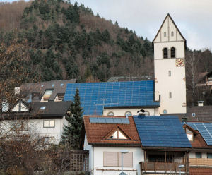 Lutheran church in Schoenau protecting creation in Germany's Black Forest.