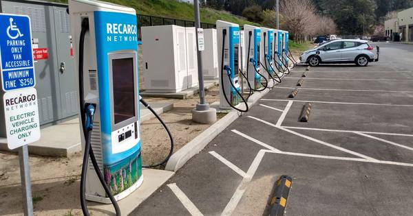 Recargo's Prunedale, California DCFC charge station has six kiosks, each with two cables: one for CHAdeMO, one for CCS. However, each kiosk can only charge one car at a time, thus it has only six active ports. This is shown correctly by AFDC data.